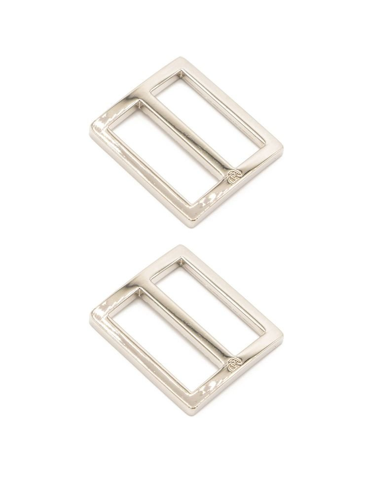 By Annie 1 inch Flat Rectangle Widemouth Slider Nickel - 2 Pack