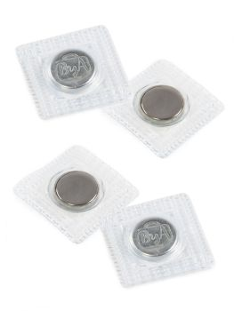 """By Annie Invisible Sew-in Magnetic Snaps 14MM (5/8"""") - Nickel - 2 Sets"""
