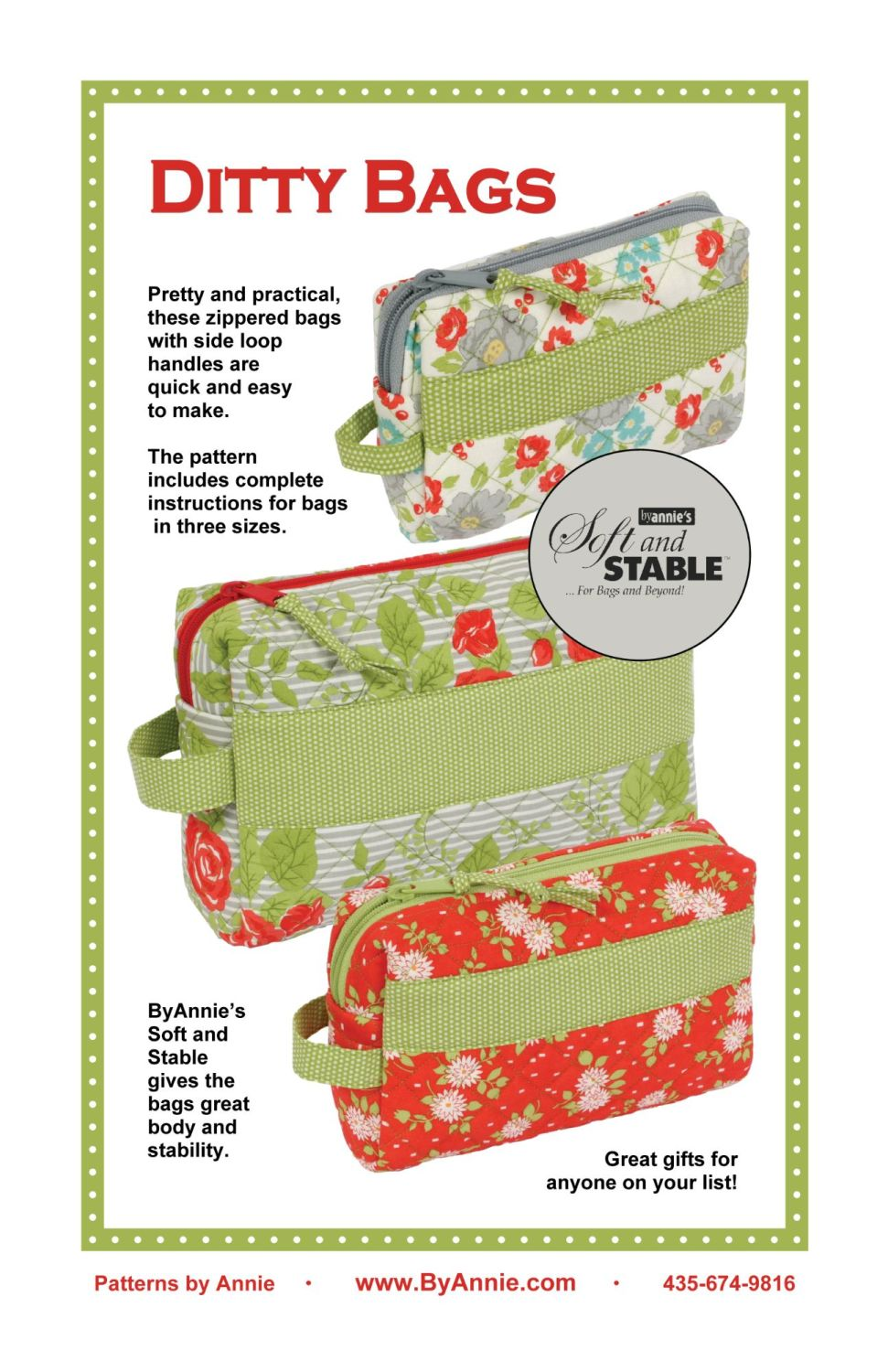 By Annie Ditty Bags Pouch Pattern