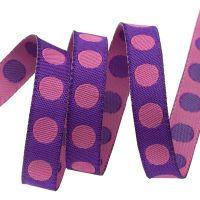 Tula Pink Pom Pom Foxglove Spots Ribbon by Renaissance Ribbons per yard