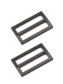 By Annie 1.5in Flat Rectangle Widemouth Slider Black - 2 Pack