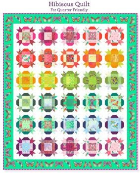 PRE-ORDER Tula Pink Daydreamer Hibiscus Quilt Fabric Kit - Pattern Available online from FreeSpirit Fabrics
