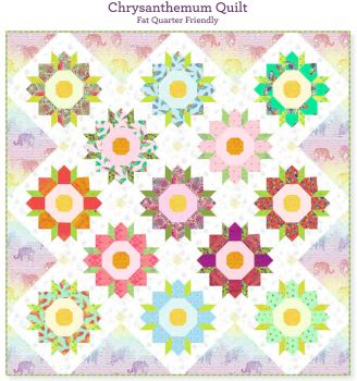 PRE-ORDER Tula Pink Daydreamer Chrysanthemum Quilt Fabric Kit - Pattern Available online from FreeSpirit Fabrics