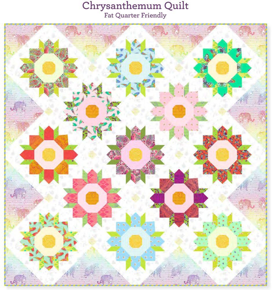 PRE-ORDER Tula Pink Daydreamer Chrysanthemum Quilt Fabric Kit - Pattern Ava