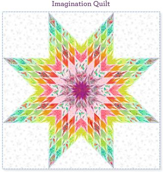 PRE-ORDER Tula Pink Daydreamer Imagination Quilt Fabric Kit - Pattern Available online from FreeSpirit Fabrics