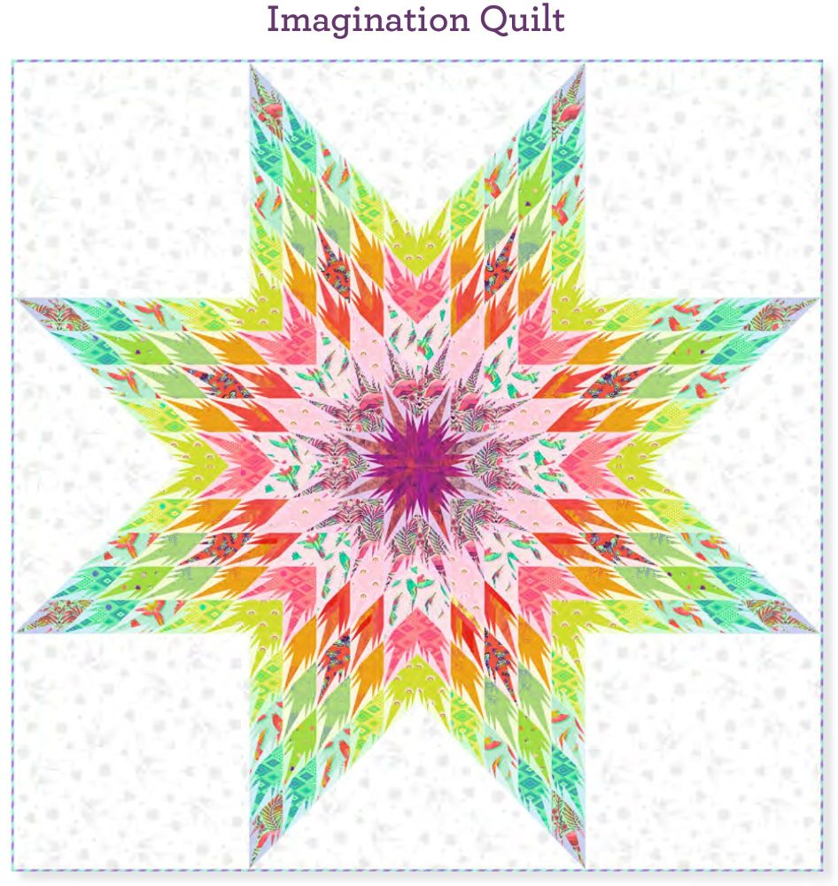 PRE-ORDER Tula Pink Daydreamer Imagination Quilt Fabric Kit - Pattern Avail