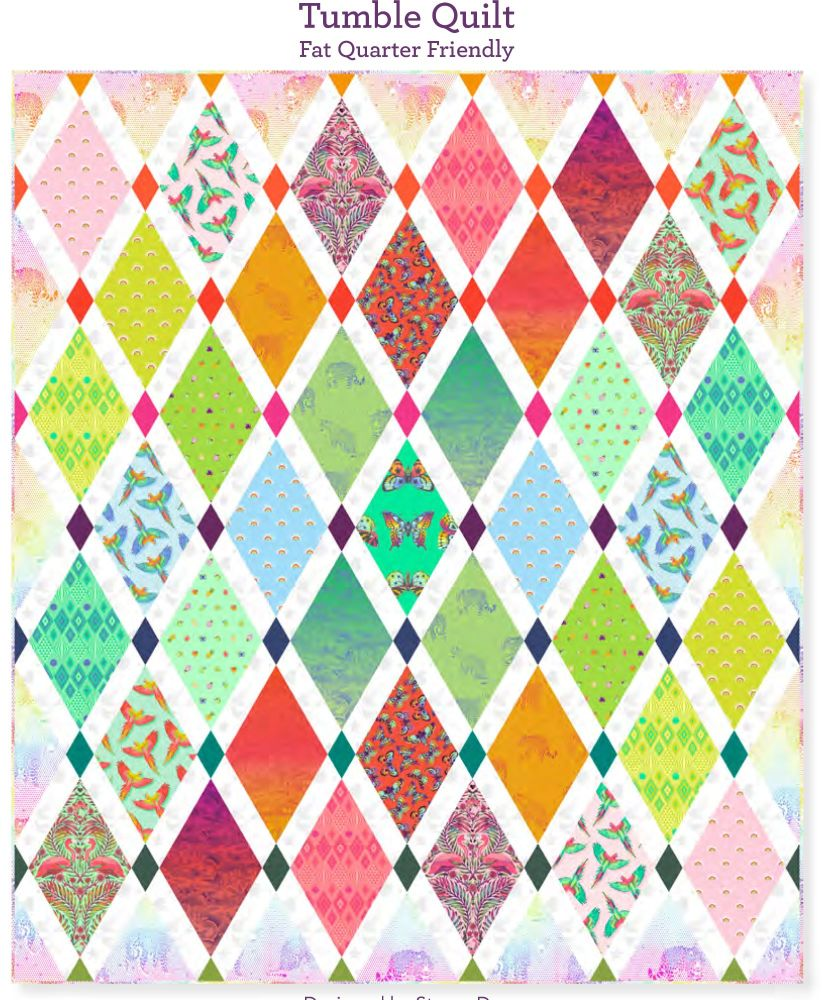 PRE-ORDER Tula Pink Daydreamer Tumble Quilt Fabric Kit - Pattern Available