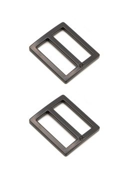 By Annie 1 inch Flat Rectangle Widemouth Slider Black - 2 Pack