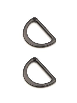 By Annie 1 inch Flat D-Ring Black - 2 Pack