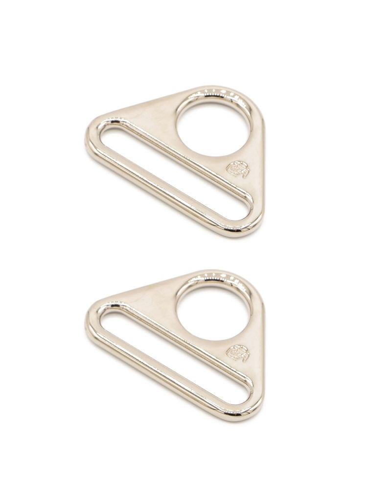 By Annie 1.5in Flat Triangle Ring Nickel - 2 Pack
