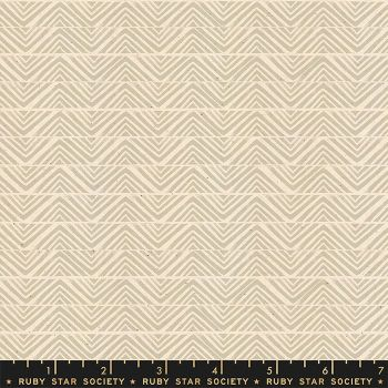 Ruby Star Society Golden Hour Mountain in Khaki Geometric Unbleached Cotton Fabric by Alexia Abegg