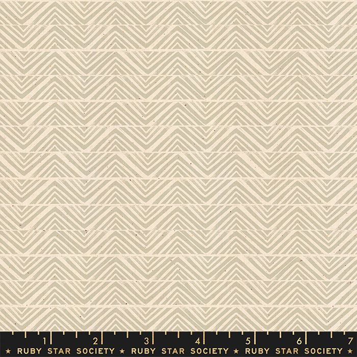Ruby Star Society Golden Hour Mountain in Khaki Geometric Unbleached Cotton