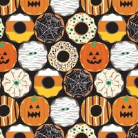 Boolicious Creepy Crullers Donut Halloween Maude Asbury Cotton Fabric