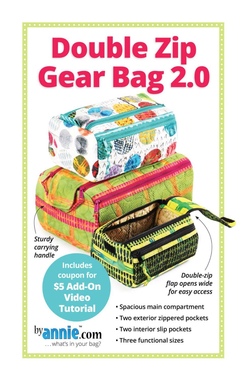 By Annie Double Zip Gear Bag 2.0 Pattern