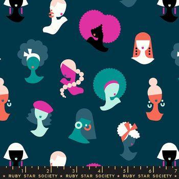 Adorn Hey Ladies Women Girls Peacock Ruby Star Society Rashida Coleman-Hale Cotton Fabric RS1018 14