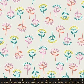 Adorn Bloom Flowers Cream Soda Ruby Star Society Rashida Coleman-Hale Cotton Fabric RS1020 11