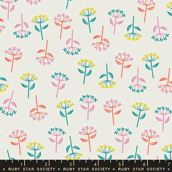 Adorn Bloom Flowers Cream Soda Ruby Star Society Rashida Coleman-Hale Cotto