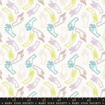 Adorn Gestures Hands Cream Soda Ruby Star Society Rashida Coleman-Hale Cotton Fabric RS1021 11