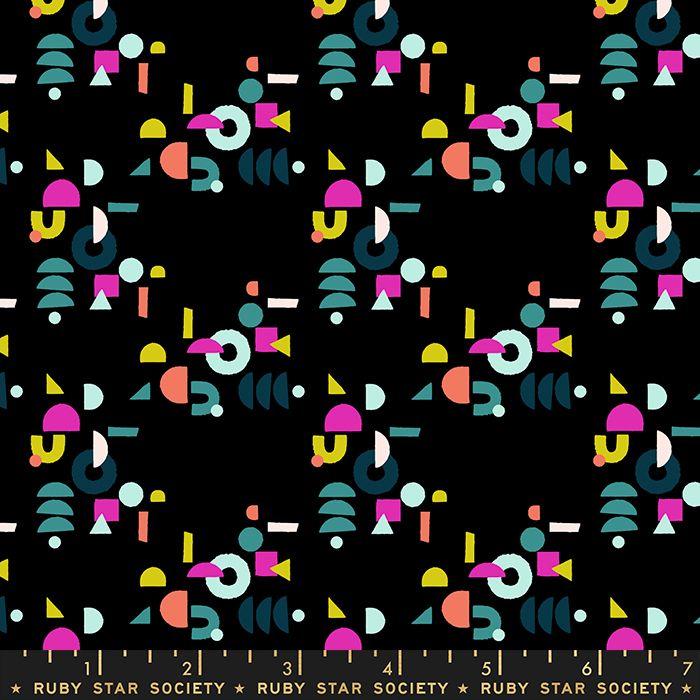 Adorn Puzzling Geometric Black Ruby Star Society Rashida Coleman-Hale Cotto