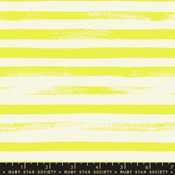 Zip Citron Geometric Stripe Ruby Star Society Rashida Coleman-Hale Cotton Fabric