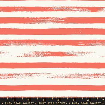 Zip Tangerine Dream Geometric Stripe Ruby Star Society Rashida Coleman-Hale Cotton Fabric