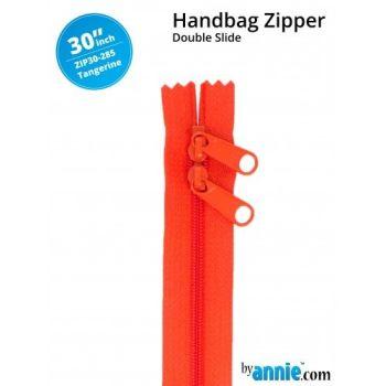 "By Annie 30"" Handbag Zipper Double Slide Tangerine Zip"