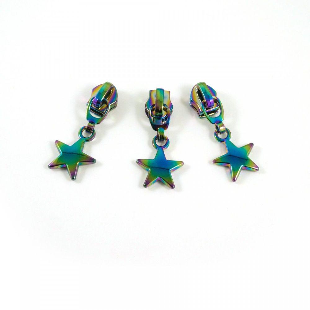 Emmaline Bags Rainbow Hardware - #5 Zipper Slider with Star Dangle Pull 10