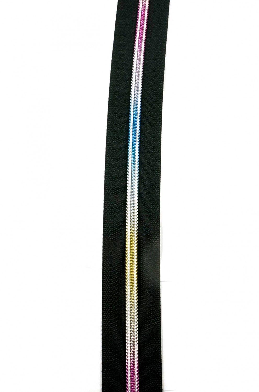 Emmaline Bags Rainbow Hardware - #5 Zippers By The Yard Black 3 Yard Pack