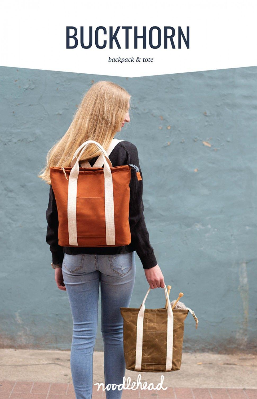 Noodlehead Buckthorn Backpack & Tote Bag Pattern