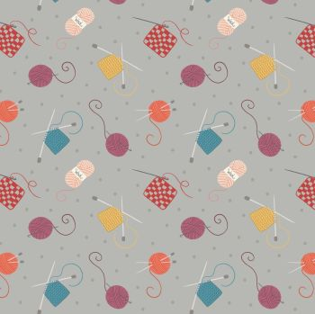 Small Things Crafts Knitting and Crochet Grey Lewis and Irene Sewing Knitting Yarn Cotton Fabric SM33.3