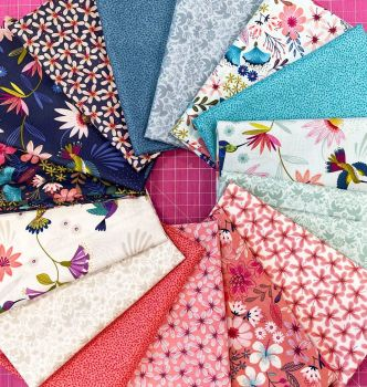 Lewis and Irene Hummingbird 15 x 0.5m Half Metre Bundle Cotton Fabric Cloth Stack Full Collection