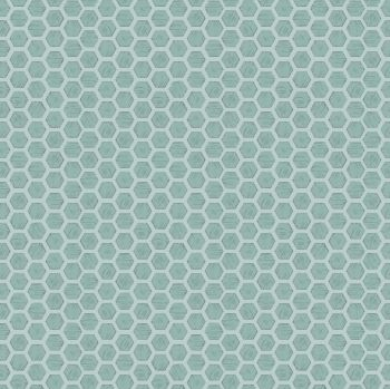 Queen Bee Honeycomb on Duck Egg Honey Bee Bumblebee Lewis and Irene Cotton Fabric A501.1