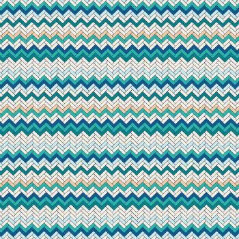 Figo Oasis Zig Zag Herringbone Tiles Cotton Fabric 90230-11
