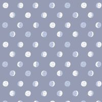 Figo Celestial Moon Phases Blue Full Moon Total Eclipse Cotton Fabric 90220-40