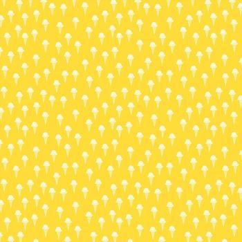 Figo Squeeze Ice Cream Cones in Summer Yellow Cotton Fabric 90301-52