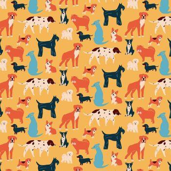 Figo Simple Pleasures Dog Breeds Puppies Cotton Fabric 90308-54
