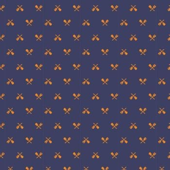 Rock On by Elizabeth Silvers Navy Guitars Cotton Fabric