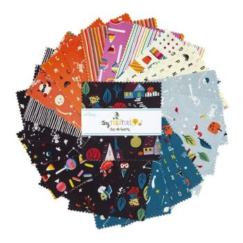 Tiny Treaters Jill Howarth Halloween Spooky Charm Pack 5 Inch Quilting Squares