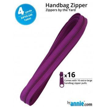 By Annie Zippers By The Yard 4 Yard Pack - Tahiti plus 16 Matching Pulls Handbag Zipper Zip