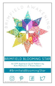 Brimfield Blooming Star EPP English Paper Piecing Pattern ONLY