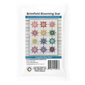 Brimfield Blooming Star EPP English Paper Piecing Pattern and Paper Pieces Complete Makes 12 Blocks