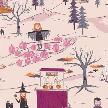 Spooky 'n Sweeter Peppermint's Tale Dusk Hallowe'en Art Gallery Fabrics Cotton Fabric SNS-13015