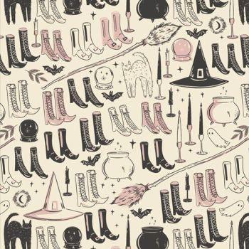Spooky 'n Sweeter Witch's Wardrobe Hallowe'en Art Gallery Fabrics Cotton Fabric SNS-13011