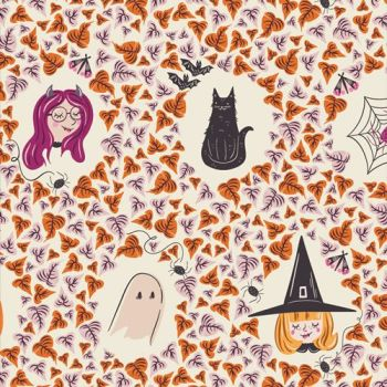 Spooky 'n Sweeter Boo Crew Hallowe'en Art Gallery Fabrics Cotton Fabric SNS-13017
