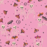 Spooky 'n Sweeter Bone To Be Wild Skulls Hallowe'en Art Gallery Fabrics Cotton Fabric SNS-13020