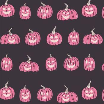 Spooky 'n Sweeter Jack O Lanterns Pumpkins Hallowe'en Art Gallery Fabrics Cotton Fabric SNS-13021