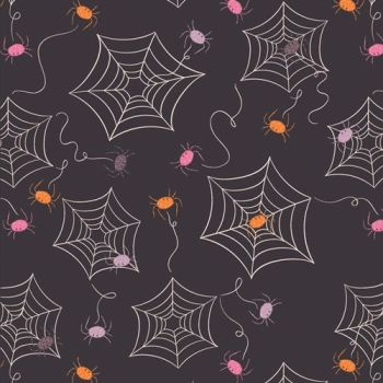 Spooky 'n Sweeter Creeping It Real Spider Webs Hallowe'en Art Gallery Fabrics Cotton Fabric SNS-13023