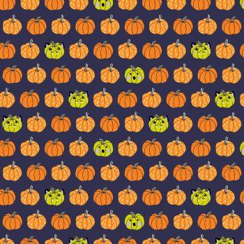 Bring Your Own Boos Carve Away Urban Legend White Pigment Pumpkin Jack O'Lantern Halloween Spooky Cotton Fabric