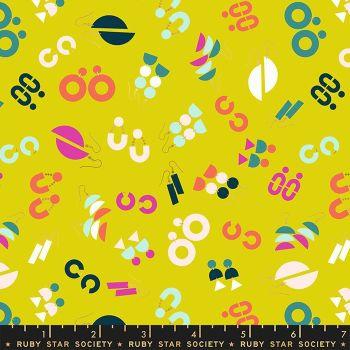 Adorn Ornaments Earrings Jewelry Citron Ruby Star Society Rashida Coleman-Hale Cotton Fabric RS1019 12
