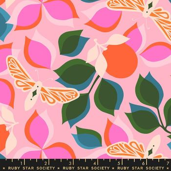 Stay Gold New Leaf Merry Botanical Ruby Star Society Melody Miller Cotton Fabric RS0019 12